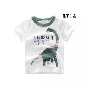 تی شرت آستین کوتاه بچگانه طرح دایناسور