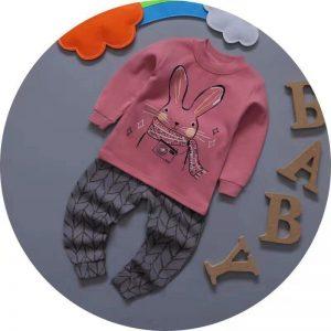 بلوز شلوار پاییزه دخترانه خرگوش