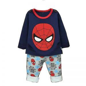 ست لباس پسرانه طرح مرد عنکبوتی