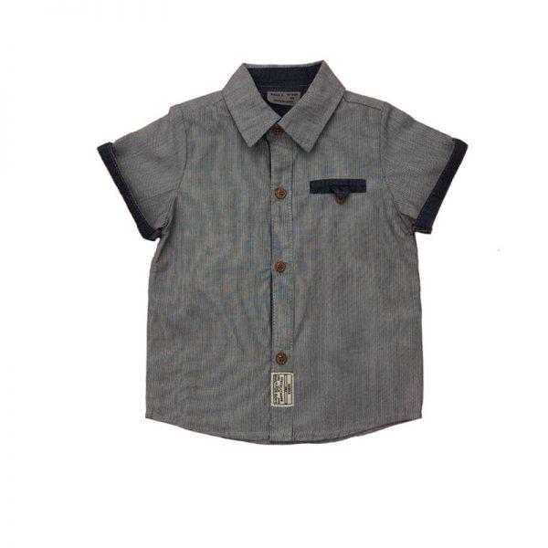 پیراهن آستین کوتاه پسرانه طوسی