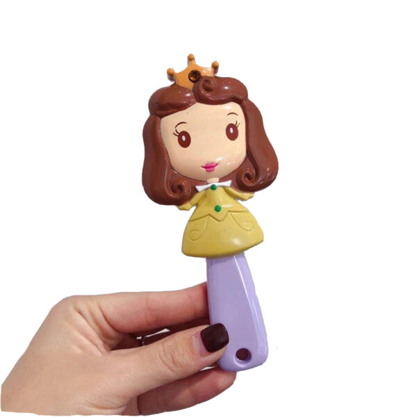 برس مو دخترانه عروسکی مو قهوه ای