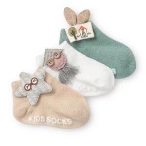 پک جوراب عروسکی بچه گانه طرح ستاره