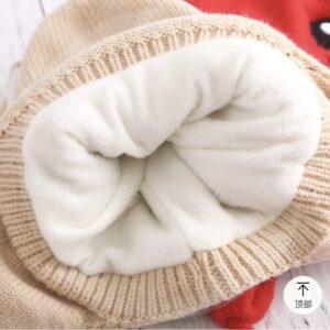 نمای داخل مدل کلاه بافتنی بچه گانه یونیکورن گوش متحرک