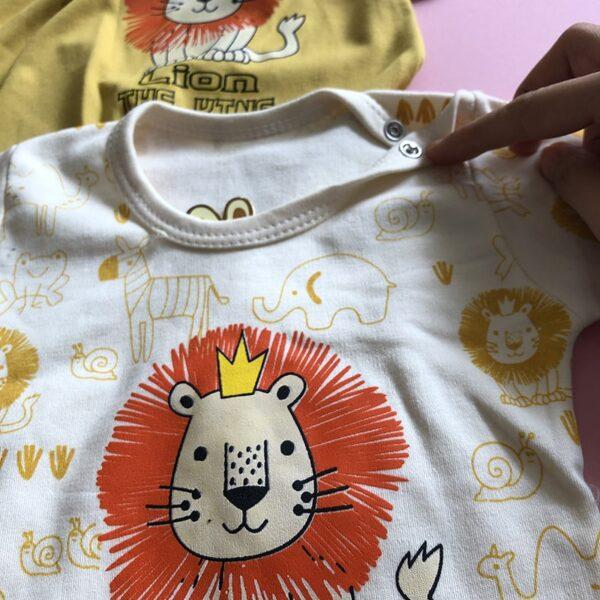 طرح روی سینه بلوز شلوار راحتی بچه گانه شیر کوچولو