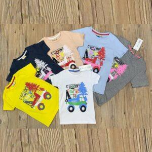 تی شرت بچه گانه پسرانه برند OVS رنگبندی کامل