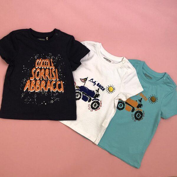 تی شرت بچه گانه طرح موتوری رنگبندی