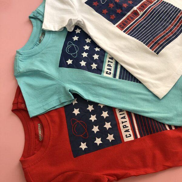 تی شرت بچه گانه طرح فضایی ستارگان از نمای نزدیک