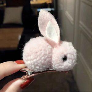 گیره مو بچه گانه خرگوشی رنگ سفید