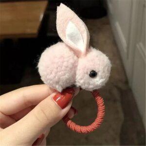 کش مو بچه گانه خرگوشی صورتی