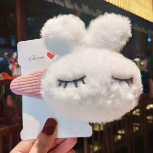 گیره تق تقی خرگوشی سفید