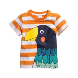 تی شرت آستین کوتاه بچگانه مدل پرنده